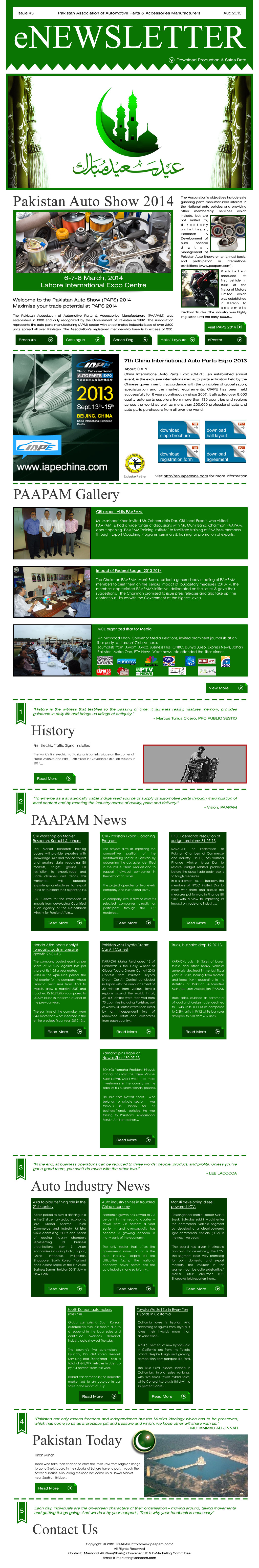 PAAPAM NEWSLETTER :: Issue 45
