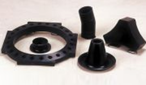 VARIOUS RUBBER SPACERS, PADS ETC
