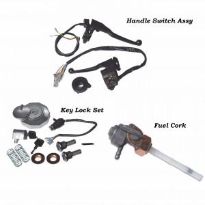 Handle Switch Assy set, Key Lock, Fuel cock