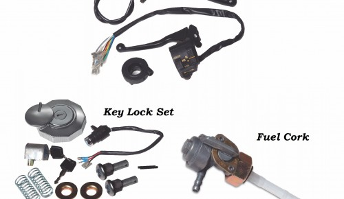 Handle Switch Assy set, Key Lock, Fuel cock